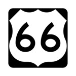 U.S. Route 66 Deluxe Canvas 14  x 11  14  x 11  x 1.5  Stretched Canvas