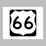 U.S. Route 66 Deluxe Canvas 20  x 16   20  x 16  x 1.5  Stretched Canvas