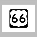 U.S. Route 66 Deluxe Canvas 24  x 20   24  x 20  x 1.5  Stretched Canvas