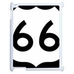 U.S. Route 66 Apple iPad 2 Case (White) Front