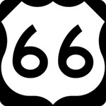 U.S. Route 66 Happy New Year 3D Greeting Card (8x4) Inside