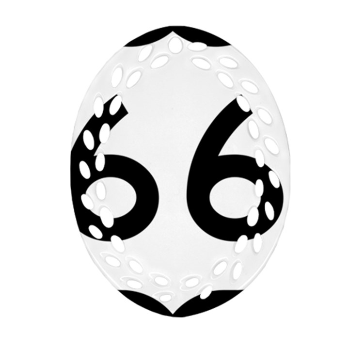U.S. Route 66 Ornament (Oval Filigree)