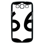 U.S. Route 66 Samsung Galaxy S III Case (Black) Front
