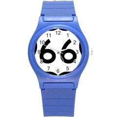 U S  Route 66 Round Plastic Sport Watch (s)