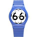 U.S. Route 66 Round Plastic Sport Watch (S) Front