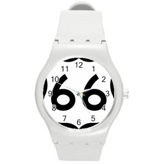 U S  Route 66 Round Plastic Sport Watch (m)
