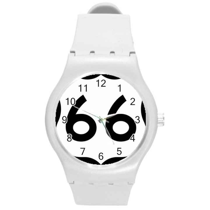 U.S. Route 66 Round Plastic Sport Watch (M)