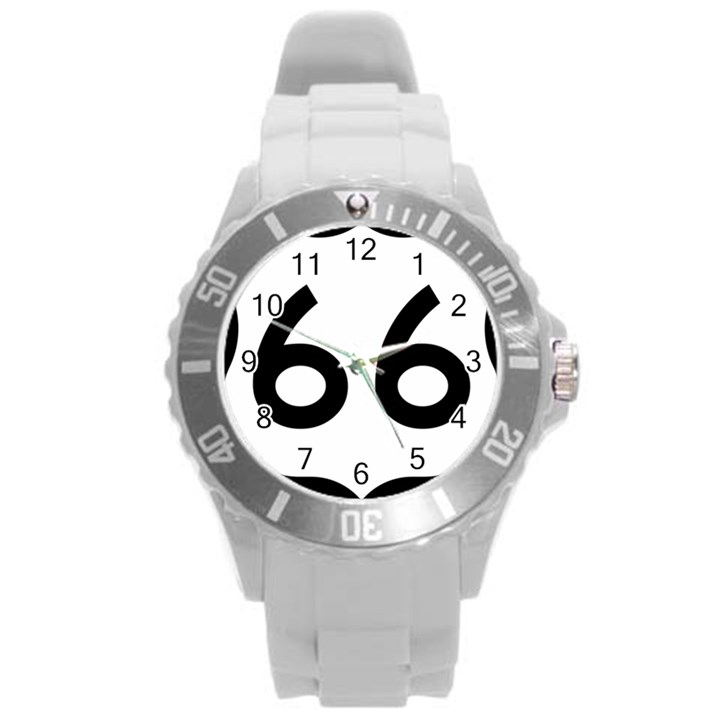 U.S. Route 66 Round Plastic Sport Watch (L)