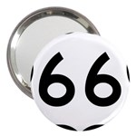 U.S. Route 66 3  Handbag Mirrors Front