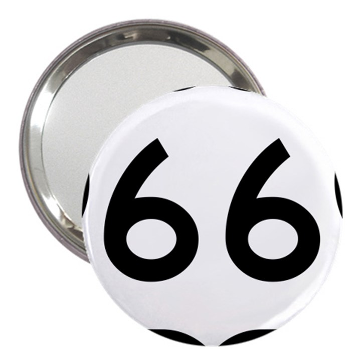 U.S. Route 66 3  Handbag Mirrors