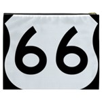 U.S. Route 66 Cosmetic Bag (XXXL)  Back