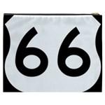 U.S. Route 66 Cosmetic Bag (XXXL)  Back