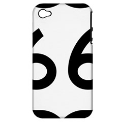 U S  Route 66 Apple Iphone 4/4s Hardshell Case (pc+silicone)