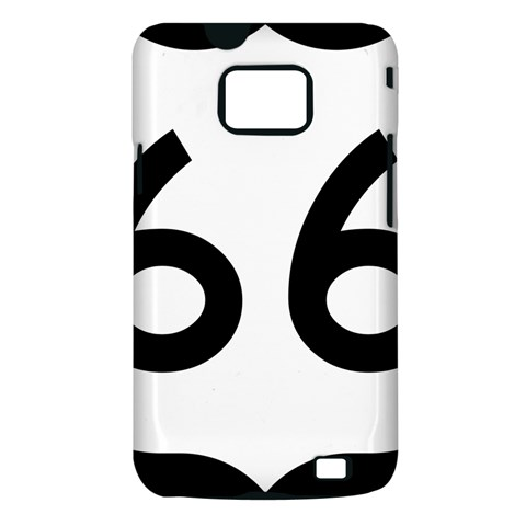 U.S. Route 66 Samsung Galaxy S II i9100 Hardshell Case (PC+Silicone)