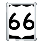 U.S. Route 66 Apple iPad 3/4 Case (White) Front