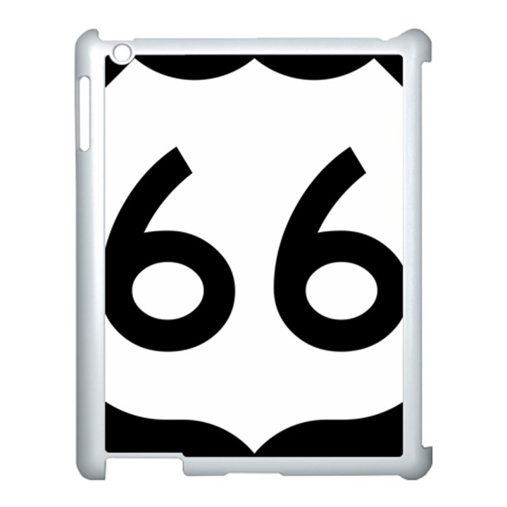 U.S. Route 66 Apple iPad 3/4 Case (White)