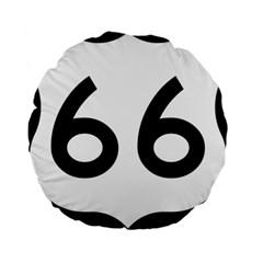 U S  Route 66 Standard 15  Premium Round Cushions