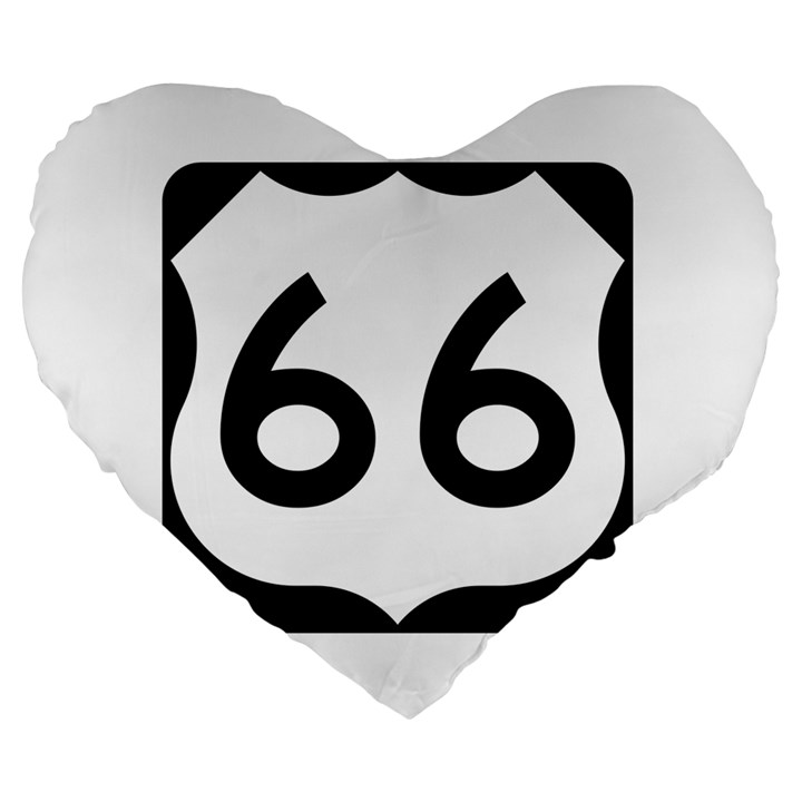 U.S. Route 66 Large 19  Premium Heart Shape Cushions