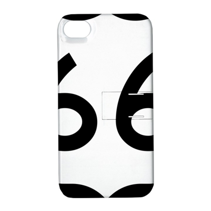 U.S. Route 66 Apple iPhone 4/4S Hardshell Case with Stand