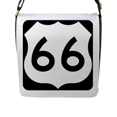 U S  Route 66 Flap Messenger Bag (l)