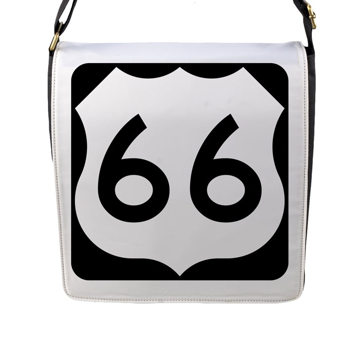 U.S. Route 66 Flap Messenger Bag (L)