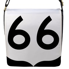U.S. Route 66 Flap Messenger Bag (S)