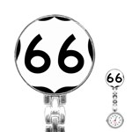 U.S. Route 66 Stainless Steel Nurses Watch Front