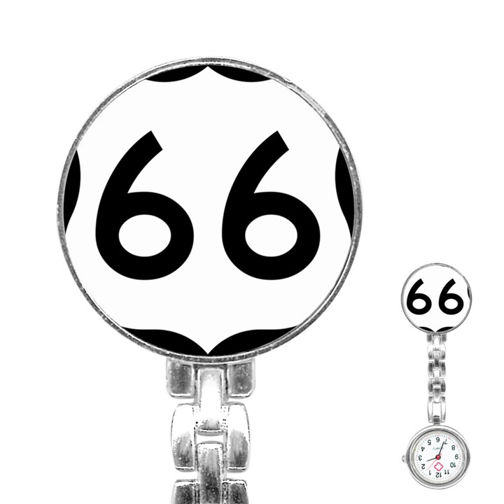 U.S. Route 66 Stainless Steel Nurses Watch