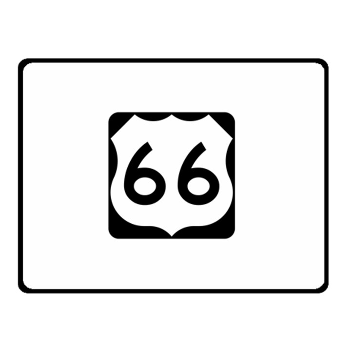 U.S. Route 66 Double Sided Fleece Blanket (Small)