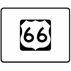 U S  Route 66 Double Sided Fleece Blanket (medium)