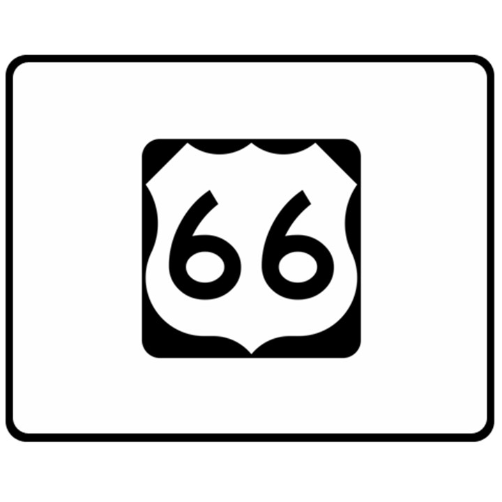 U.S. Route 66 Double Sided Fleece Blanket (Medium)