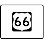 U.S. Route 66 Double Sided Fleece Blanket (Medium)  60 x50 Blanket Back