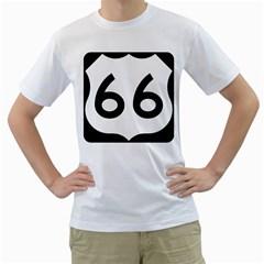 U.S. Route 66 Men s T-Shirt (White)
