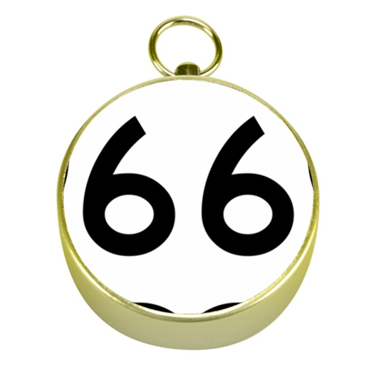 U.S. Route 66 Gold Compasses