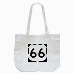 U.S. Route 66 Tote Bag (White)