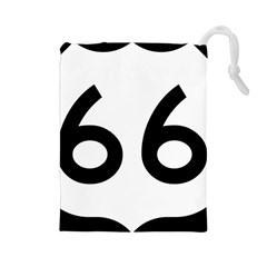 U S  Route 66 Drawstring Pouches (large)