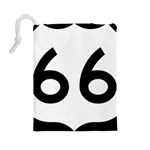 U.S. Route 66 Drawstring Pouches (Large)  Back