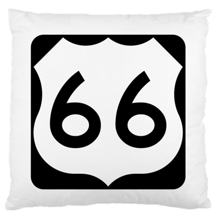 U.S. Route 66 Standard Flano Cushion Case (One Side)