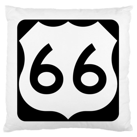 U.S. Route 66 Large Flano Cushion Case (Two Sides)