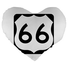 U S  Route 66 Large 19  Premium Flano Heart Shape Cushions