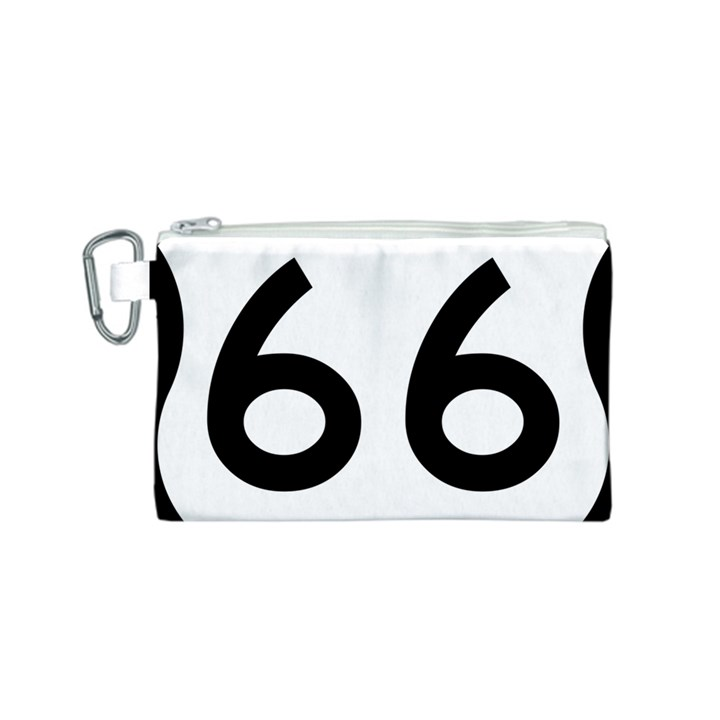 U.S. Route 66 Canvas Cosmetic Bag (S)