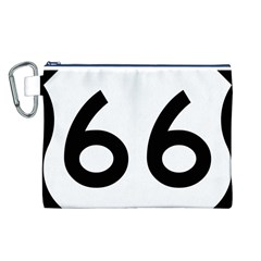 U S  Route 66 Canvas Cosmetic Bag (l)