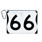 U.S. Route 66 Canvas Cosmetic Bag (L) Front