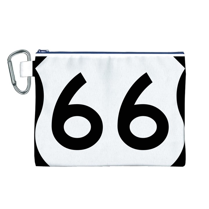 U.S. Route 66 Canvas Cosmetic Bag (L)
