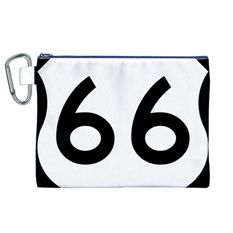 U.S. Route 66 Canvas Cosmetic Bag (XL)