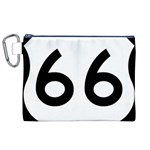 U.S. Route 66 Canvas Cosmetic Bag (XL) Front
