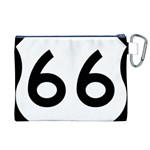 U.S. Route 66 Canvas Cosmetic Bag (XL) Back