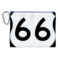 U.S. Route 66 Canvas Cosmetic Bag (XXL)