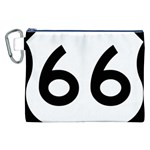 U.S. Route 66 Canvas Cosmetic Bag (XXL) Front