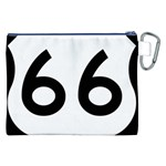 U.S. Route 66 Canvas Cosmetic Bag (XXL) Back